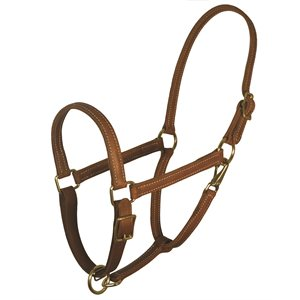 "7 / 8"" VALUE WORK HALTER - CHESTNUT"