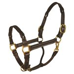 HORSE HAVANA TWISTED LEATHER HALTER