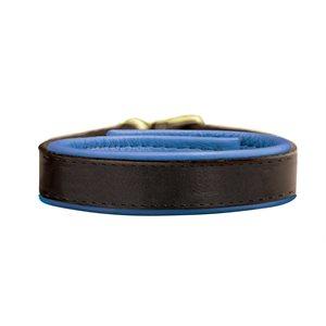 HAVANA / BLUE PADDED LEATHER BRACELET