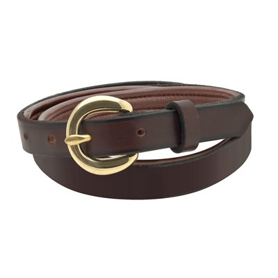 EXTRA SMALL BROWN / BROWN PADDED LEATHER BELT