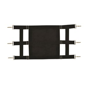 BLACK NYLON STALL GAURD W / CLOSED CENTER