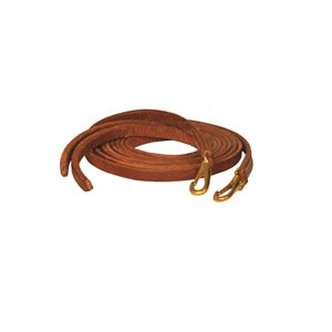 7' WESTERN SNAP END LEATHER REINS