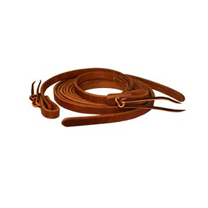 7' WESTERN TIE END LEATHER REINS