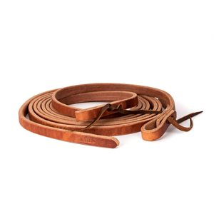 "TIE END 5 / 8"" HARNESS LEATHER WESTERN REINS"