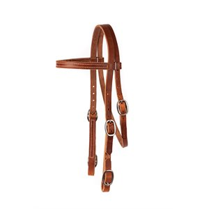 """3 / 4"""" WIDTH BROW BAND BUCKLE END HEADSTALL"""